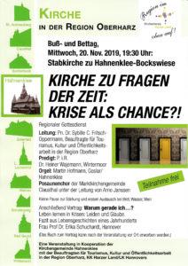 Kirche zu Fragen der Zeit @ Stabkirche, Hahnenklee Bockswiese